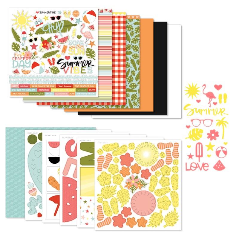 Summer Vibes Scrapbooking Workshop Kit (without Memory Protectors™)