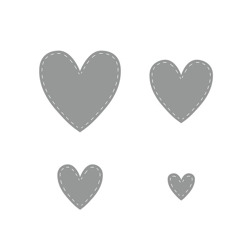 Stitched Hearts Thin Cuts