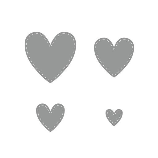 Stitched Hearts Thin Cuts (Z4182)