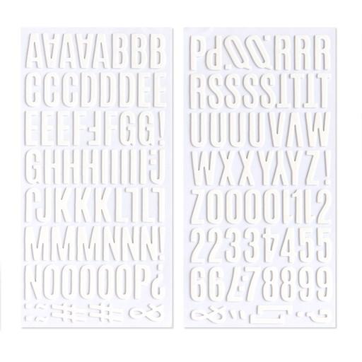 White Alphabet Foam Stickers (Z4088)