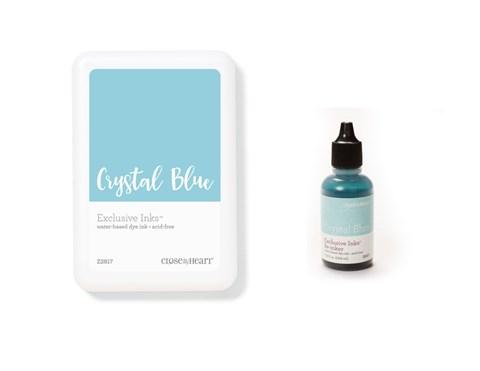Crystal Blue Exclusive Inks™ Stamp Pad + Re-inker (CC1420)