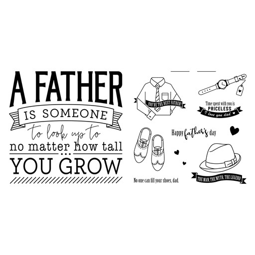 Legendary Father's Day Stamp Set Bundle (CC6207)