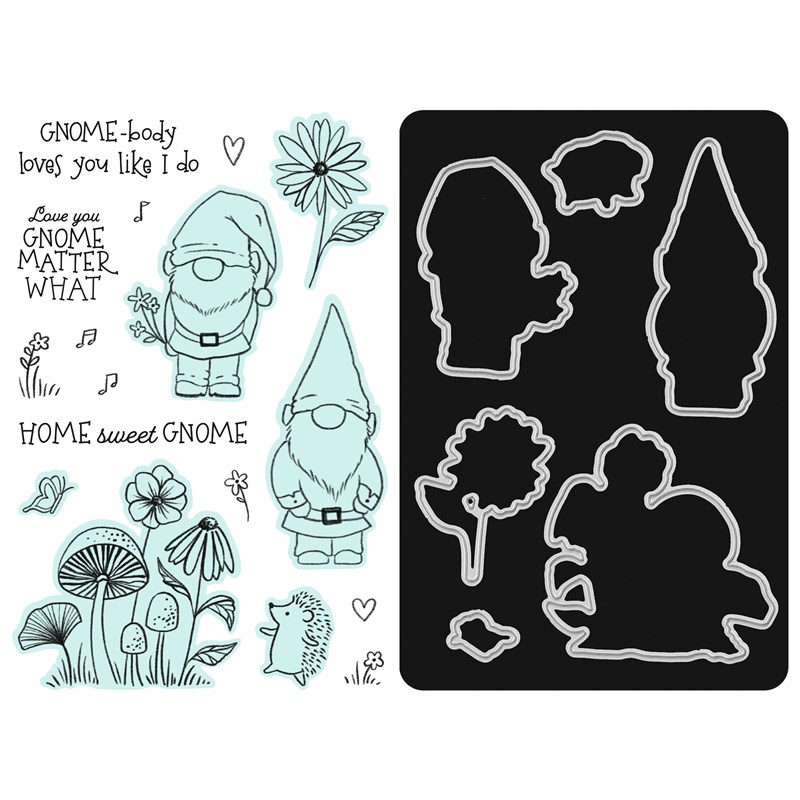 Gnome Matter Stamp + Thin Cuts