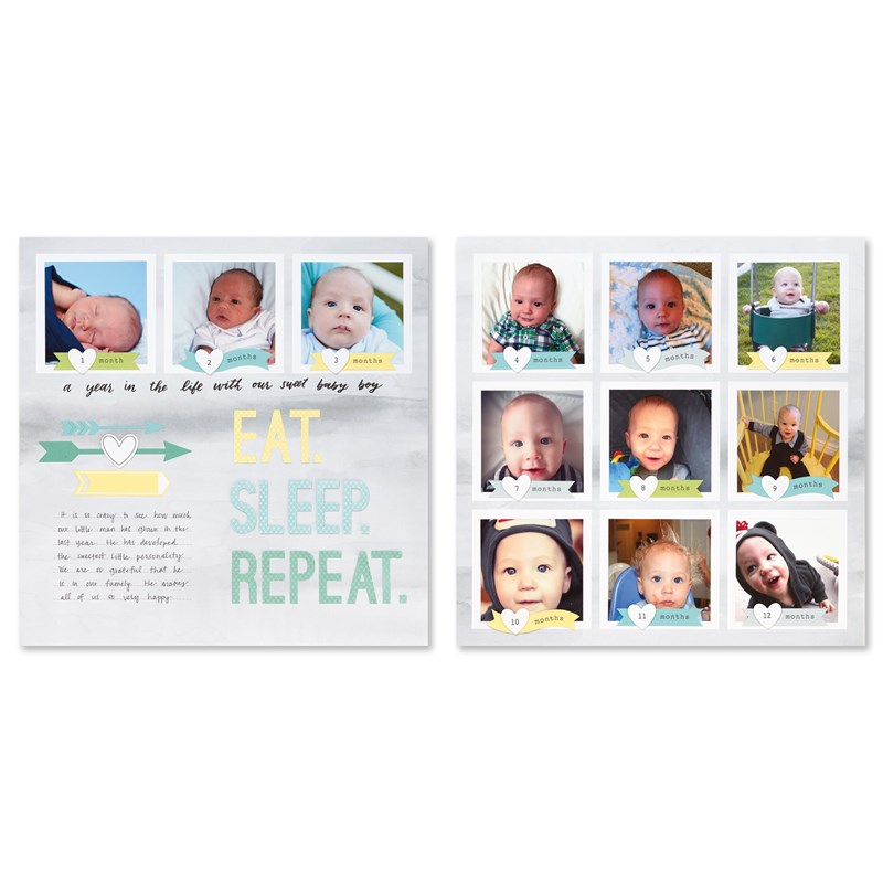 Cut Above® Layout Kit—The Story Begins (Baby Boy)