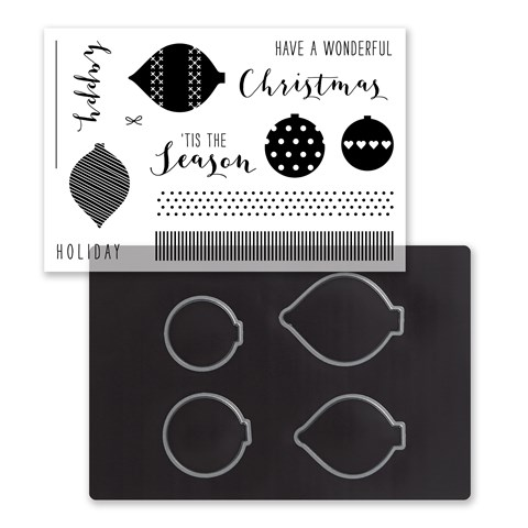 Silver & Gold Cardmaking Stamp + Thin Cuts (Z4042)