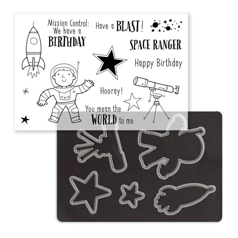 Stargazer Cardmaking Stamp + Thin Cuts (Z4157)