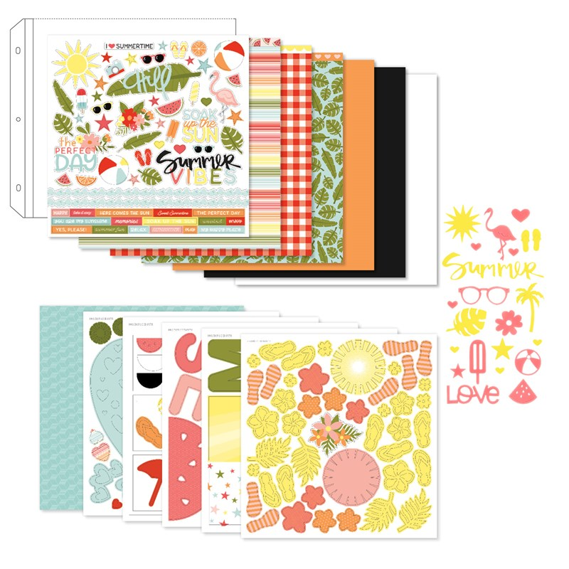 Summer Vibes Scrapbooking Workshop Kit