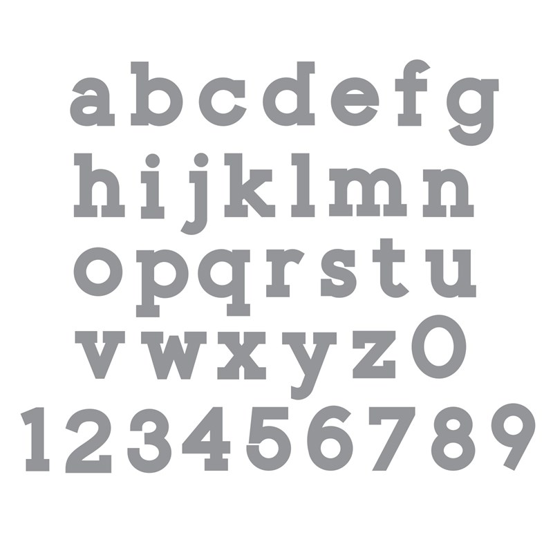 Simple Serif Lowercase Thin Cuts