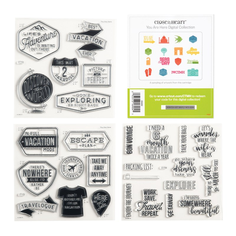 Cricut® You Are Here Digital Collection