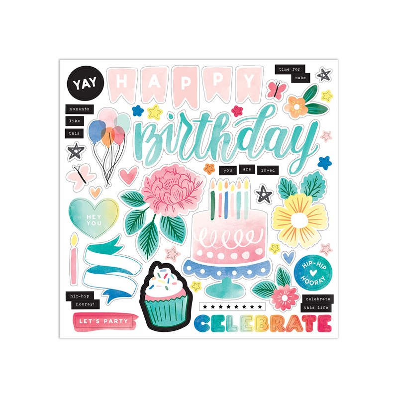 Celebrate Today Paper Packet + Sticker Sheet