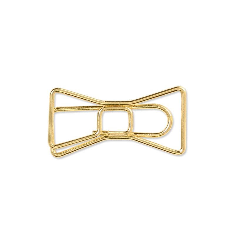 Gold Bow Clips
