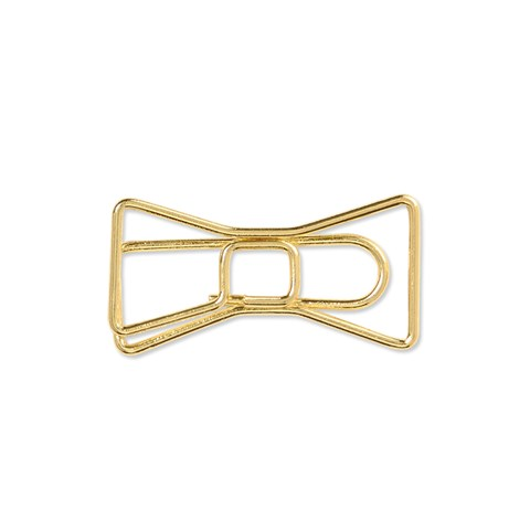 Gold Bow Clips (Z3380)
