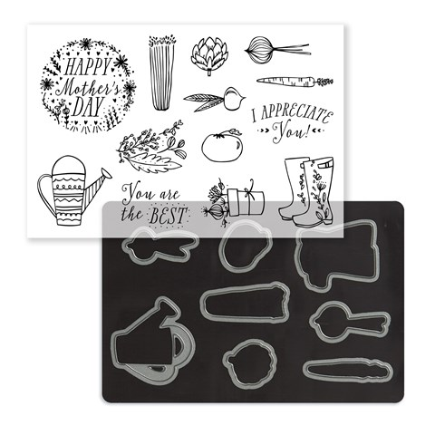 Mother's Garden Stamp + Thin Cuts (Z4164)