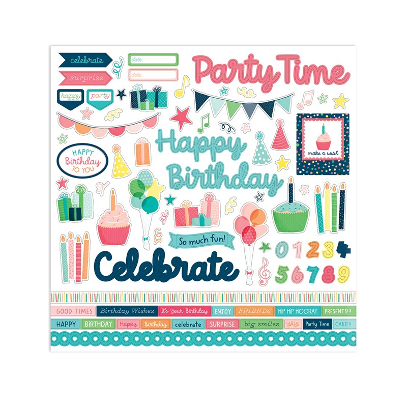 Party Time Paper Packet + Sticker Sheet