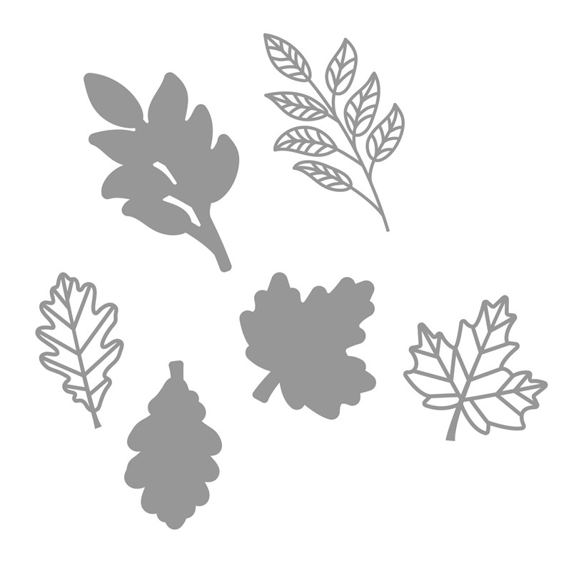 Layered Leaves Thin Cuts