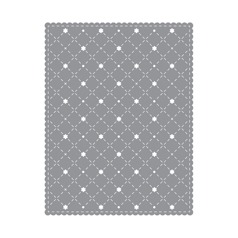 Stitched Lattice Background Thin Cuts