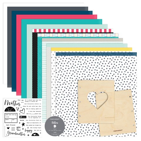 Made with Love Mini Album Workshop Kit (British Spelling stamp set) (CC41911)