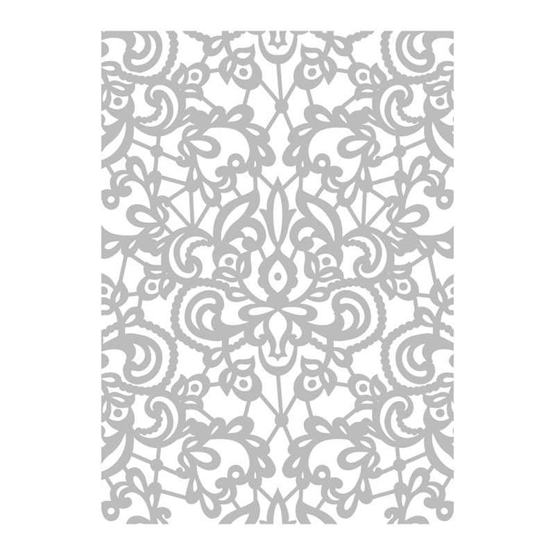 Floral Lace Embossing Folder