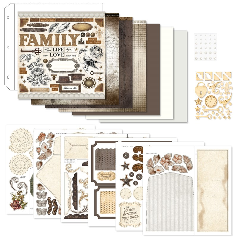 Yesterday & Today Scrapbooking Workshop Kit