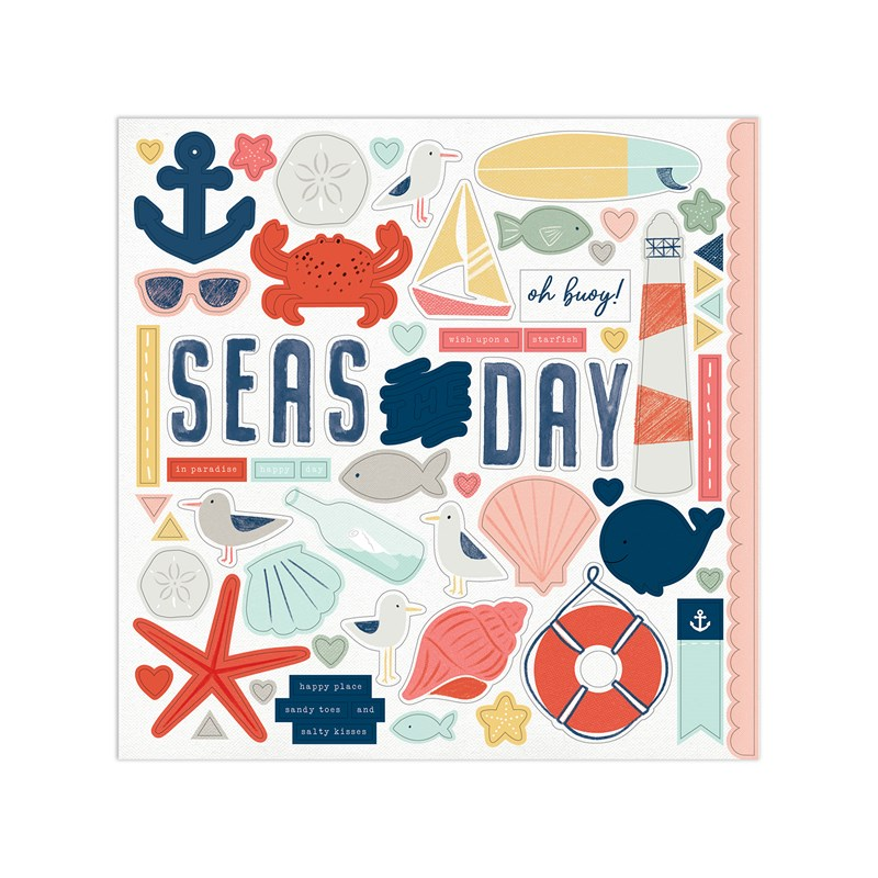 Seas the Day Paper Packet + Sticker Sheet