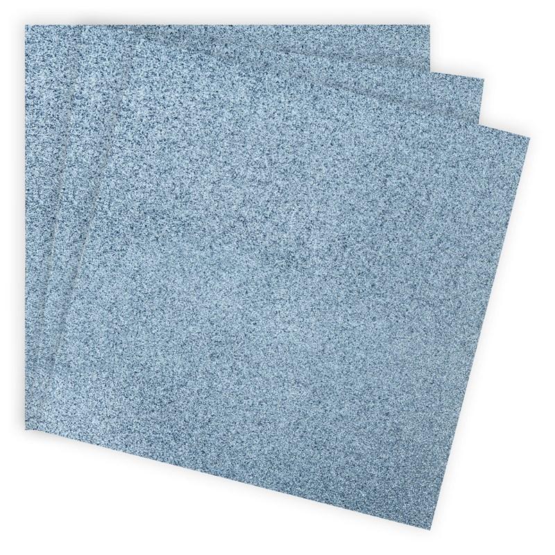 Blue Belle Glitter Paper