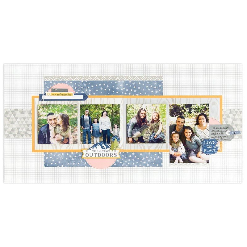 Into the Wild Deluxe Scrapbooking Workshop Kit (without stamp set)