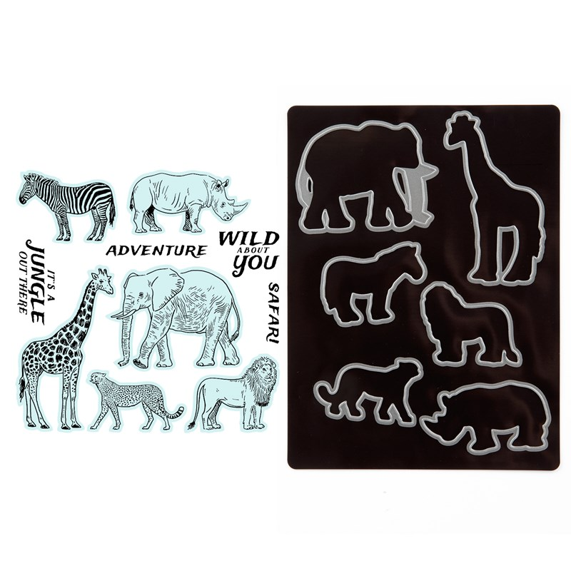 African Safari Stamp + Thin Cuts
