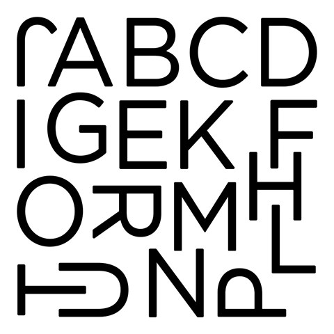 Solid Classroom Alphabet (E1043)