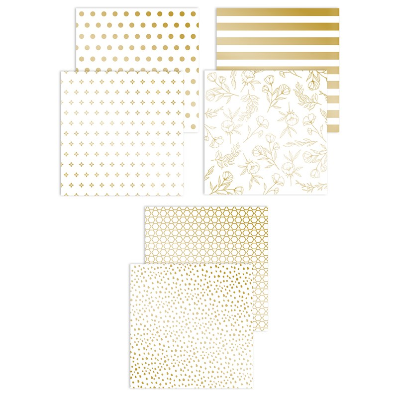 Gold Foil Pattern Papers