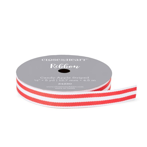 Candy Apple Striped Ribbon (Z4230)