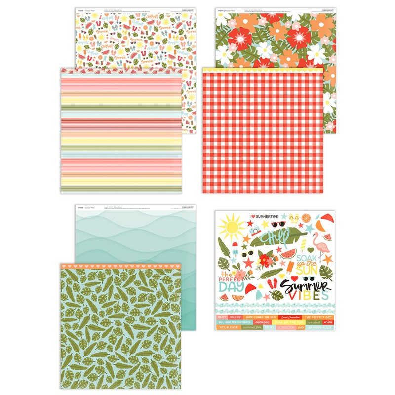 Summer Vibes Paper Packet + Sticker Sheet