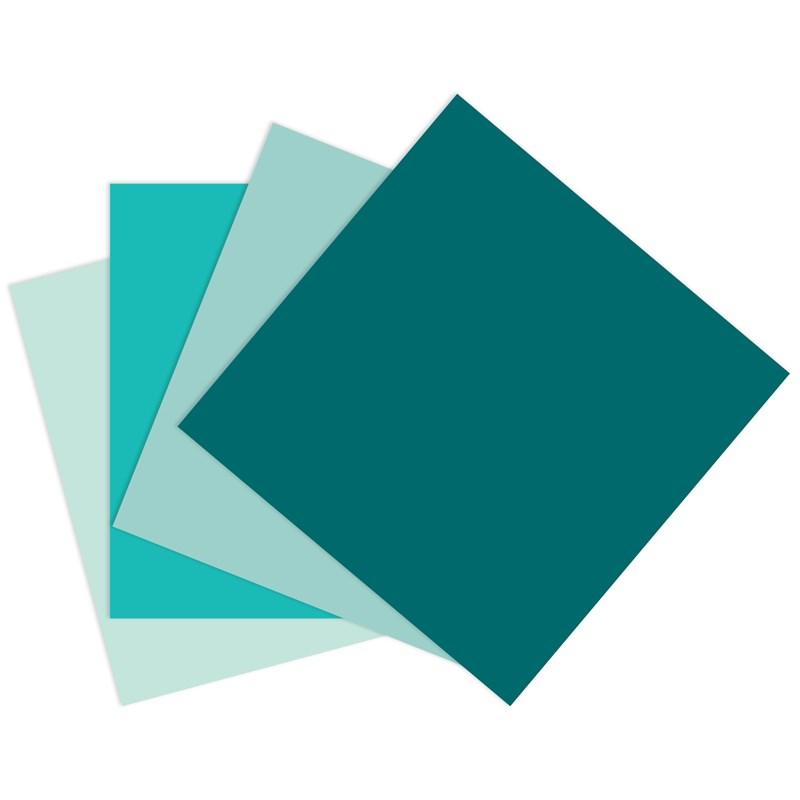Green-blue Cardstock Bundle (CC3219)