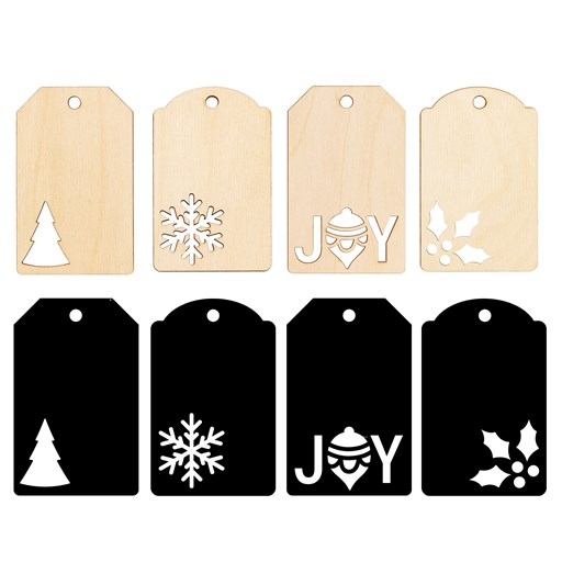 Christmas Wood Tags (CC112010)