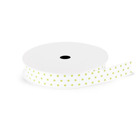 Sweet Leaf Swiss Dot Grosgrain Ribbon (CC61812)