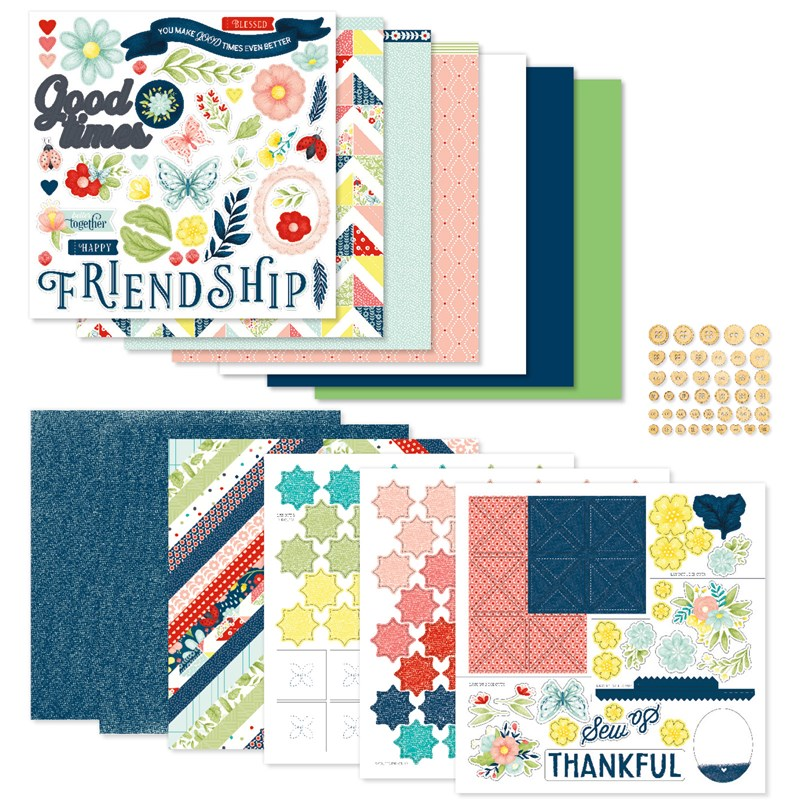 Stitched Together Scrapbooking Workshop Kit (without Memory Protectors™)
