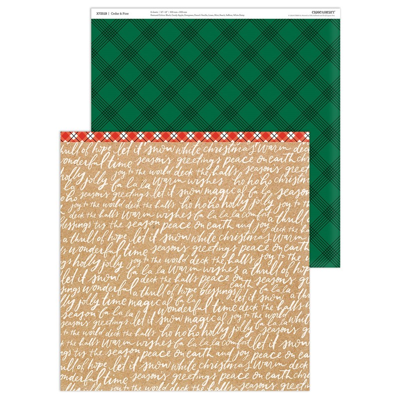 Cedar & Pine Paper Packet + Sticker Sheet