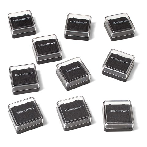 Exclusive Inks™ Mini Pigment Pads Bulk Pack—Black (Z9998)