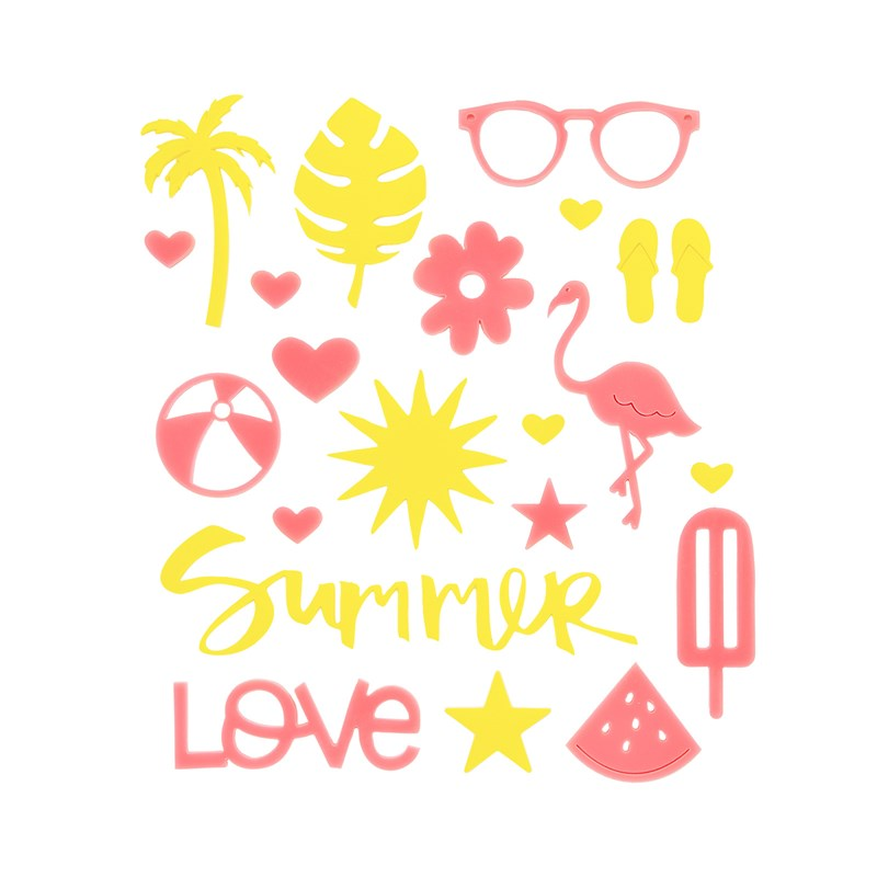 Summer Vibes Acrylic Shapes