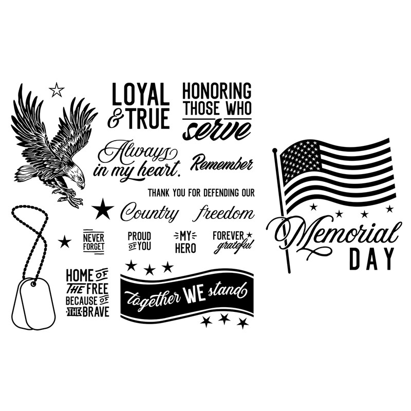 Memorial Day Stamp Set Bundle