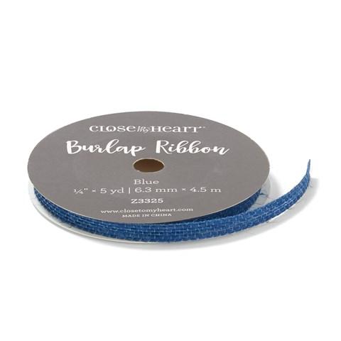 Blue Burlap Ribbon (Z3325)
