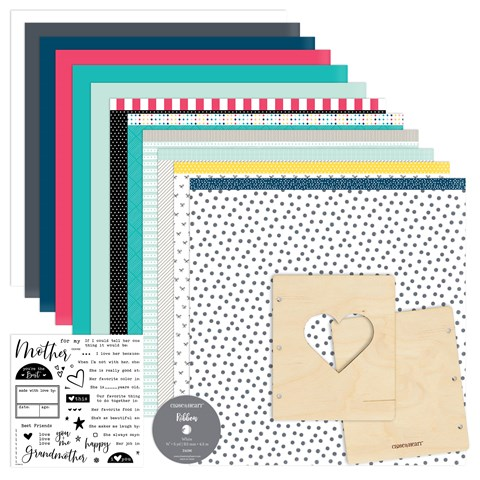 Made with Love Mini Album Workshop Kit (US spelling stamp set) (CC4193)