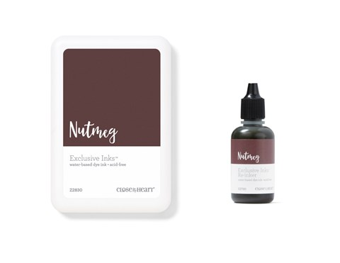 Nutmeg Exclusive Inks™ Stamp Pad + Re-inker (CC1436)