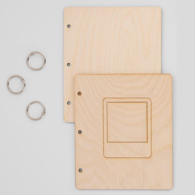 Wood Mini Album Cover—Square