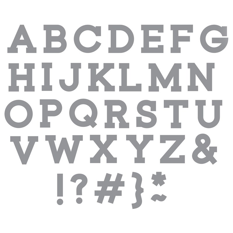 Simple Serif Uppercase Thin Cuts