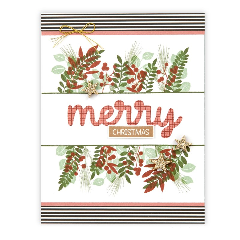 Merry Borders Stamp + Thin Cuts