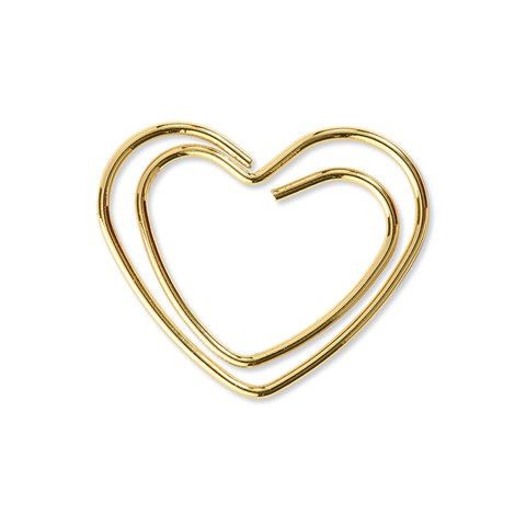 Gold Heart Clips (Z3381)