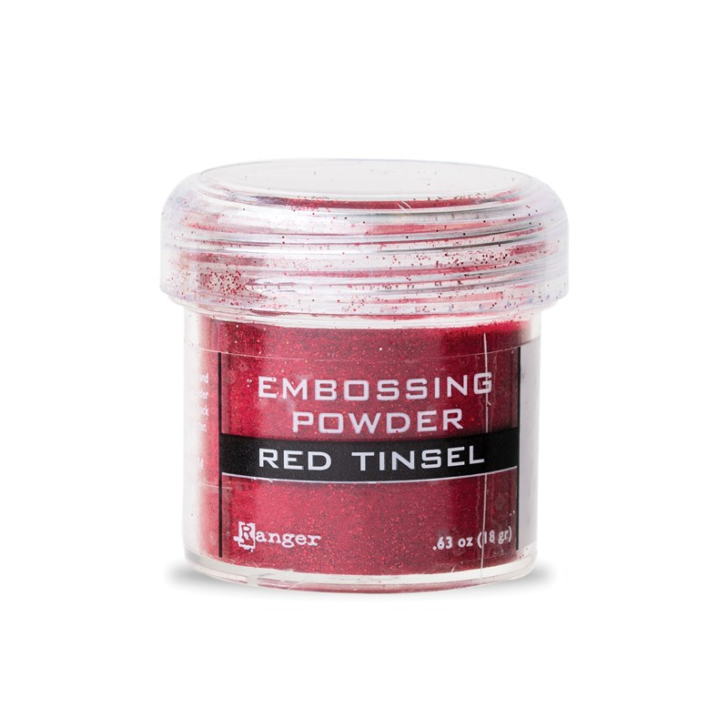 Red Tinsel Embossing Powder