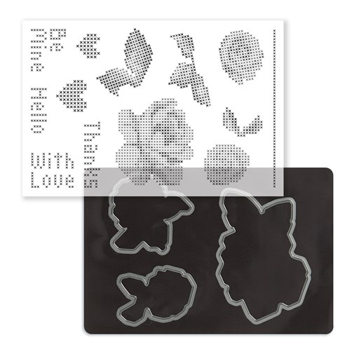 Cross-stitch Love Stamp + Thin Cuts (Z4165)