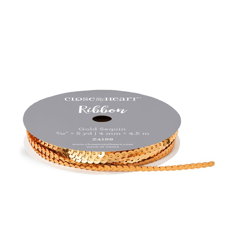 Gold Sequin Ribbon