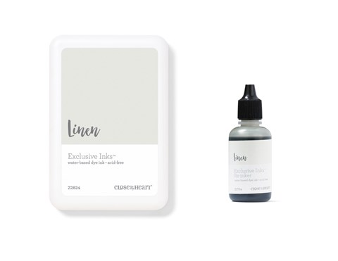 Linen Exclusive Inks™ Stamp Pad + Re-inker (CC1430)